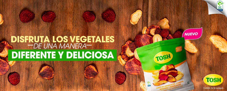 Banner sobre vegetales deshidratados Tosh
