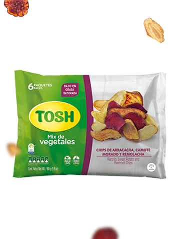 Mix de vegetales Snacks Tosh