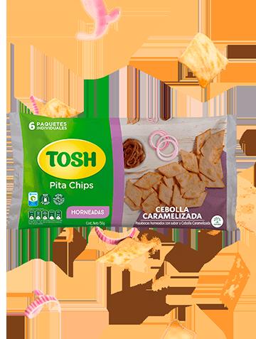 Pita chips Cebollas caramelizadas Tosh