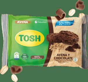 Galletas de avena y chocolate Tosh